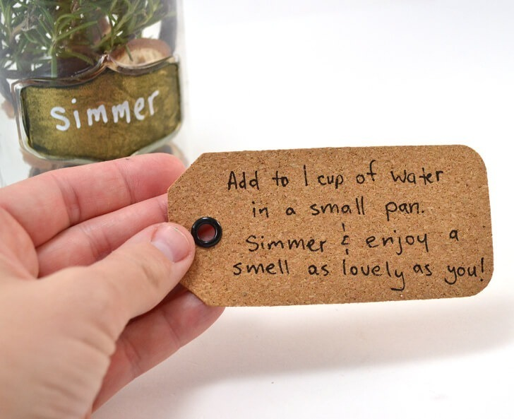 Stove top simmer scents make the whole house smell so lovely. This interesting combination served up in a mason jar makes a fabulous gift!