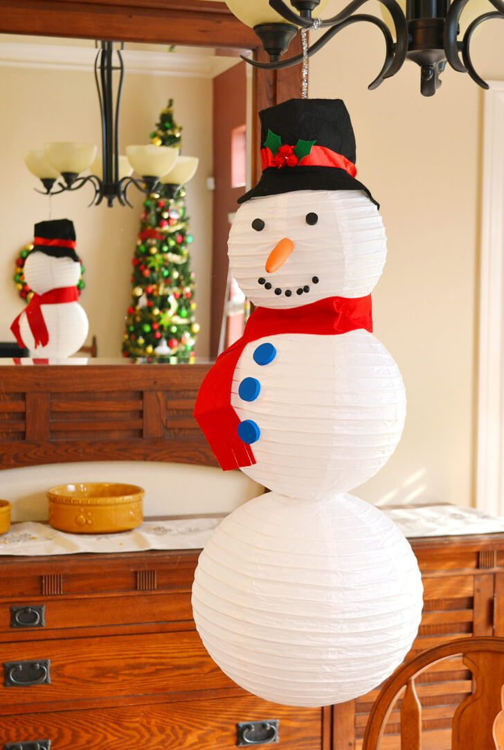 christmas craft decorations ideas paper lantern snowman tutorial a bigger 3570