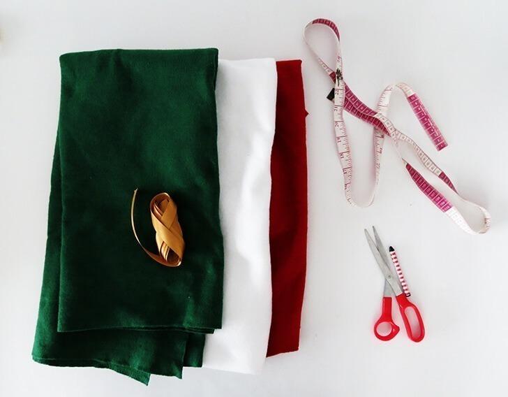 diy christmas tree skirt 2