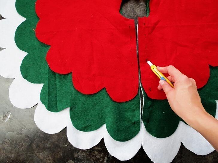 diy christmas tree skirt 6