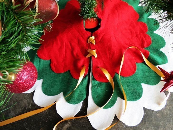 diy christmas tree skirt 7