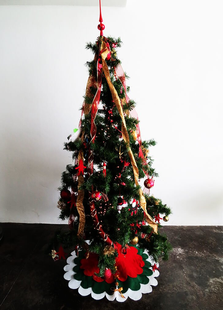 diy christmas tree skirt 9