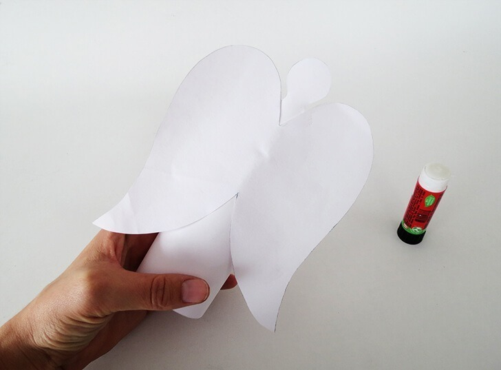 diy paper angel votive 5