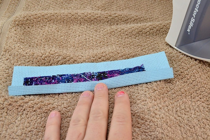 Make a galaxy cuff bracelet with this galaxy cross stitch pattern.