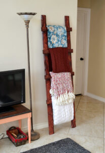 Even a total beginner can make this simple, rustic throw ladder for about $6!!!