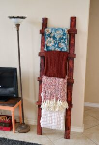 Even a total beginner can make this simple, rustic throw ladder for less than $8!!!