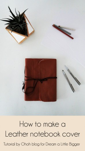 diy leather notebook cover 1