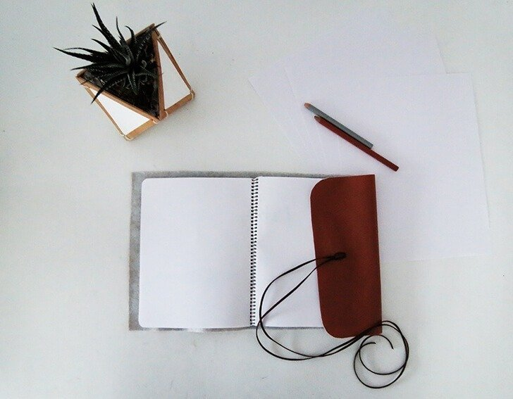 diy leather notebook cover 11
