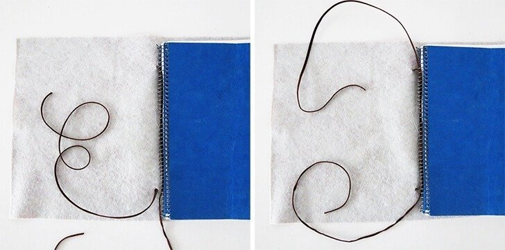 diy leather notebook cover 6