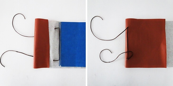 diy leather notebook cover 7