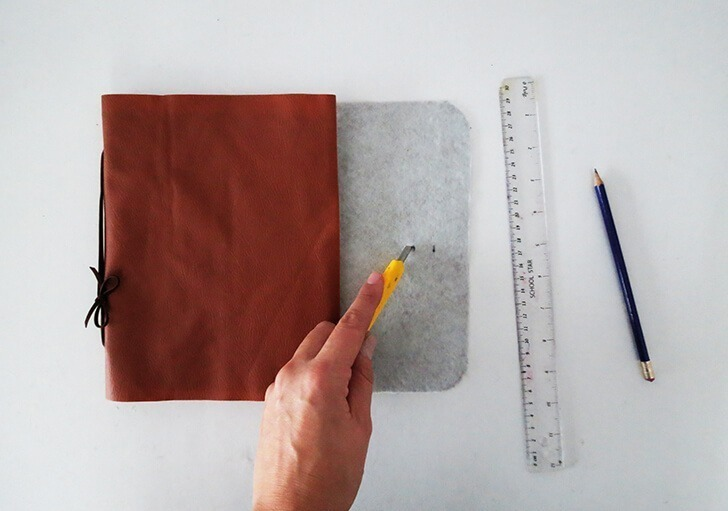 diy leather notebook cover 8
