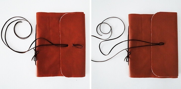 diy leather notebook cover 9