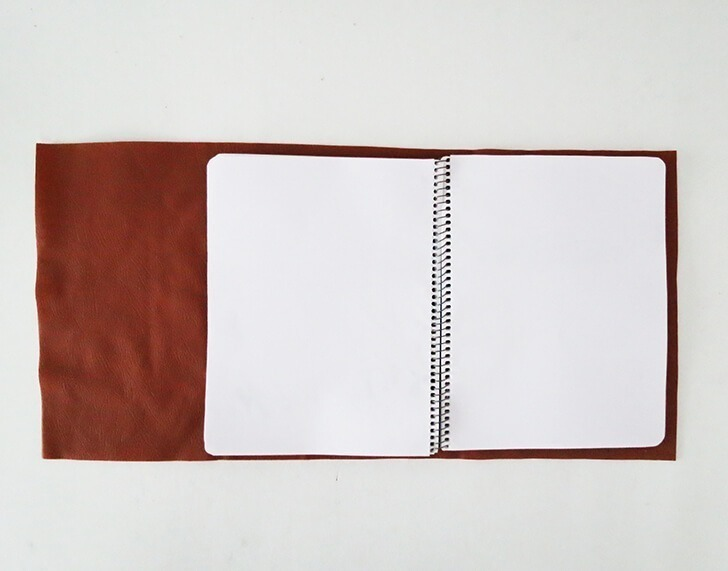 diy leather notebook cover