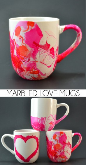 These marbled coffee mugs are the perfect gift for the java lovers in your life!