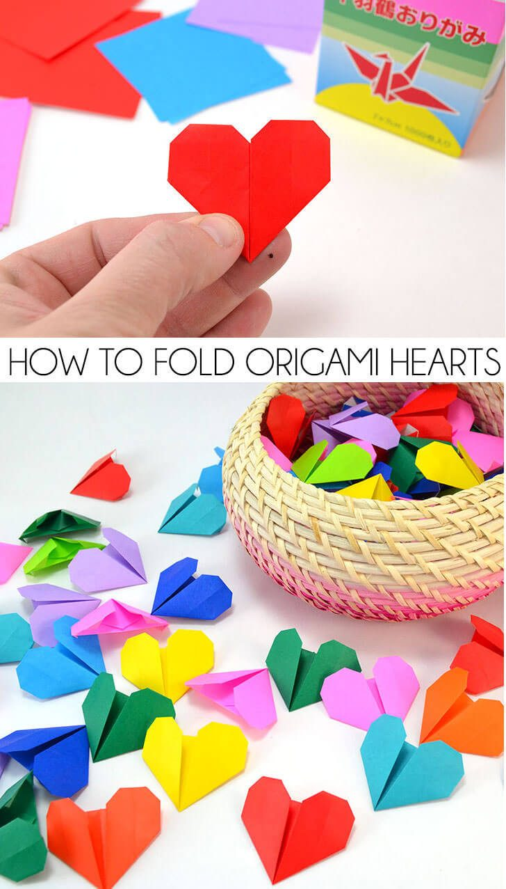 How to Fold Origami Hearts