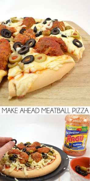 Superbowl Sunday is one heck of a hectic gameday. Get ready for the big even with crowd pleasing make ahead meatball pizzas!