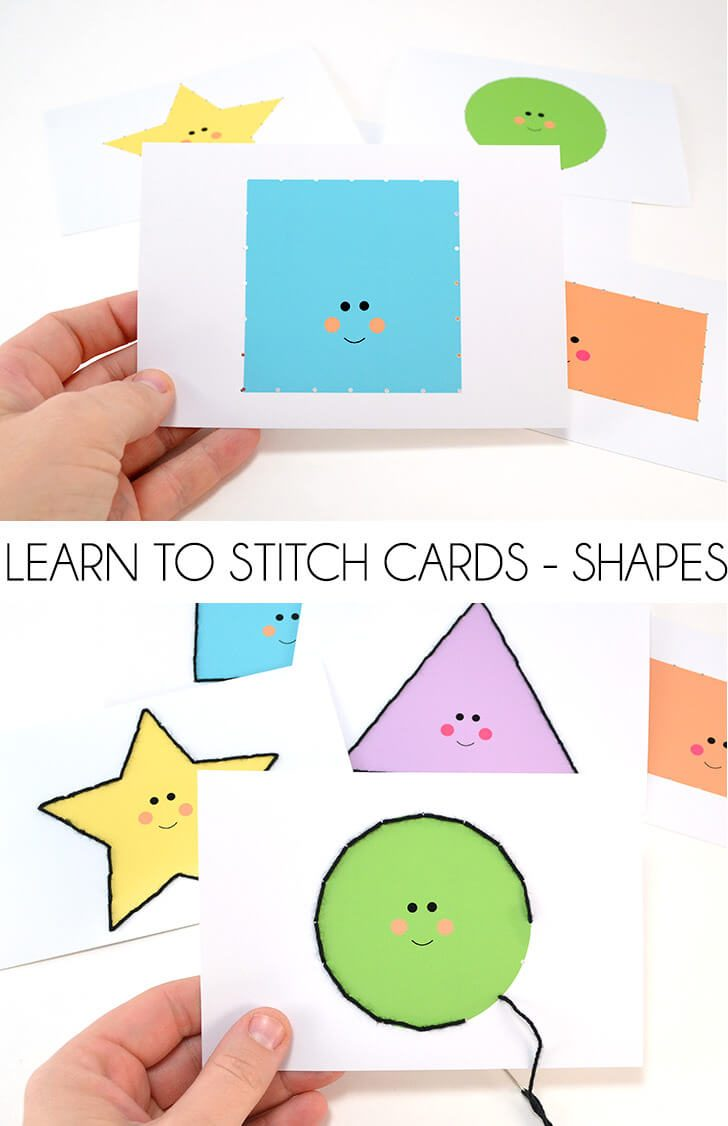 Learn to Stitch Cards – Shapes