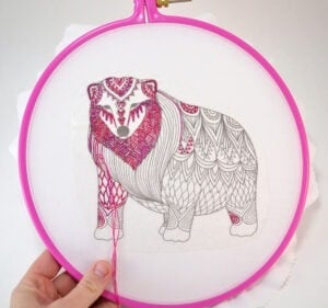 I love embroidering but HATE getting the embroidery pattern ready to stitch. This is genius - no transfer pencils or hot irons. All you need is a printer for the easiest embroidery pattern transfer.