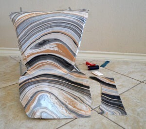 Check out this IKEA hack! Marble a Vilmar chair with Mod Podge!