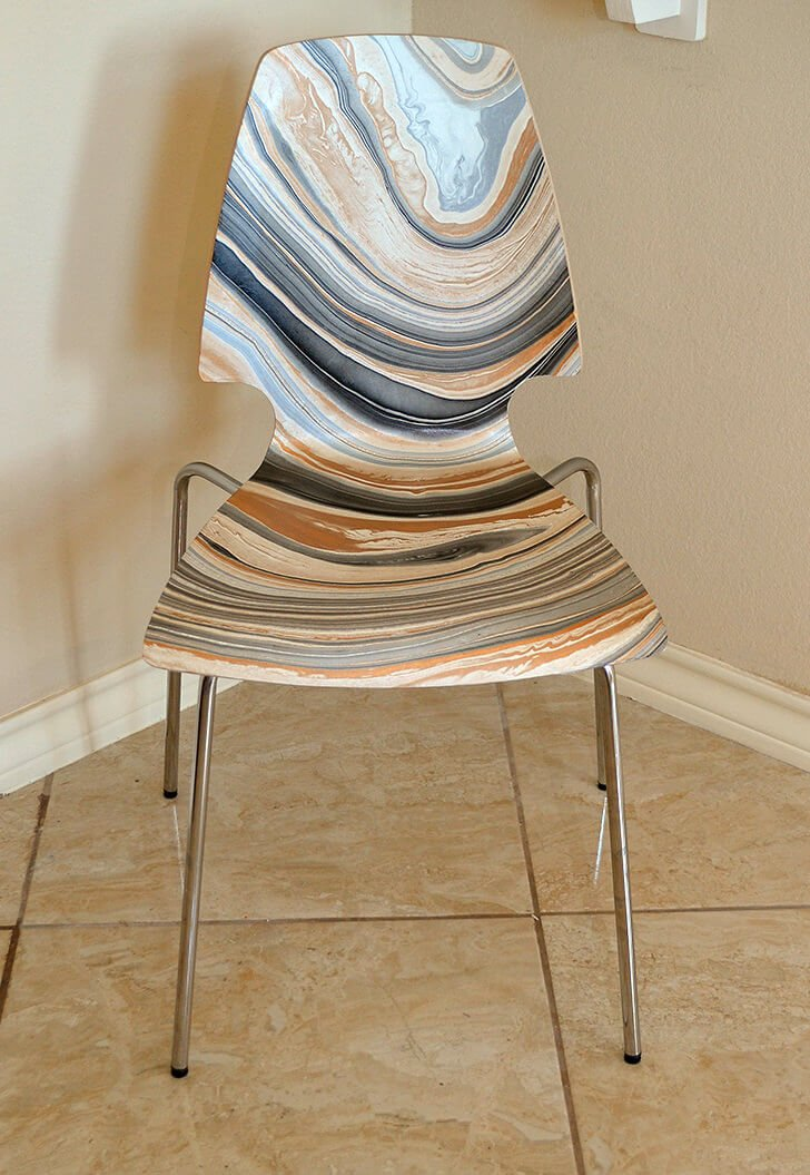 Check out this IKEA hack! Marble a Vilmar chair with Mod Podge! & DIY Marbled IKEA Vilmar Chair - Dream a Little Bigger