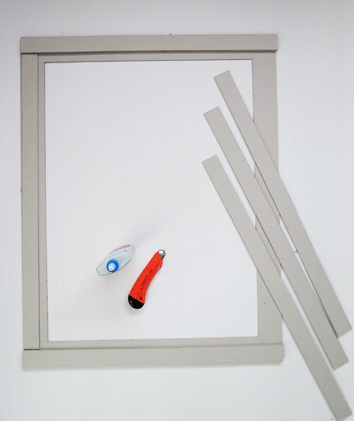 diy cardboard frame 3