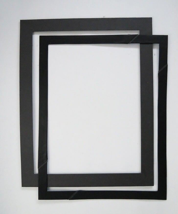diy cardboard frame 6