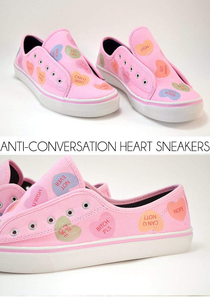 Anti-Conversation Heart Sneakers