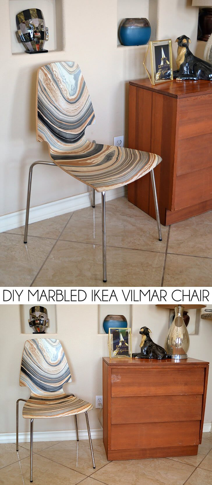 DIY Marbled IKEA Vilmar Chair