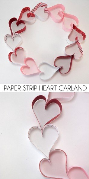 This is so easy and so cute! Make paper hearts with a stapler.