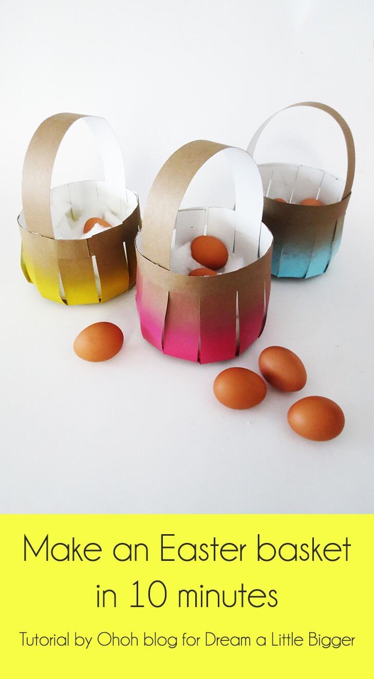 diy easy easter egg basket 1