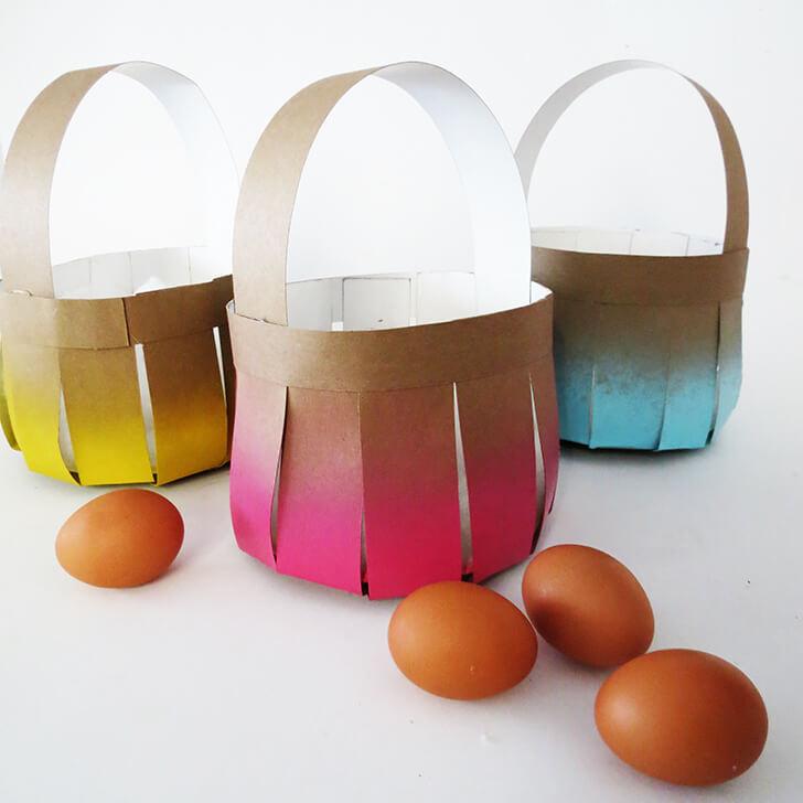 diy easy easter egg basket 8
