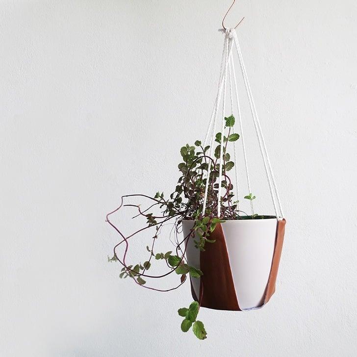 diy leather plant hanger 11