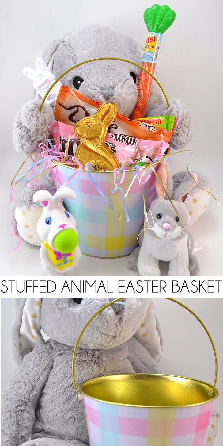 Stuffed Animal Easter Basket Tutorial