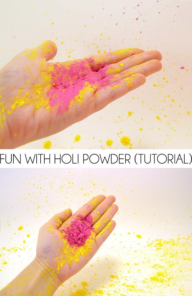 Holi Color Powder Tutorial