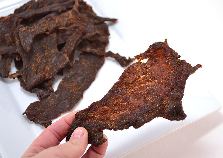 Save big bucks making your own homemade beef jerky. We made up the cost of the dehydrator and then some pretty quickly!