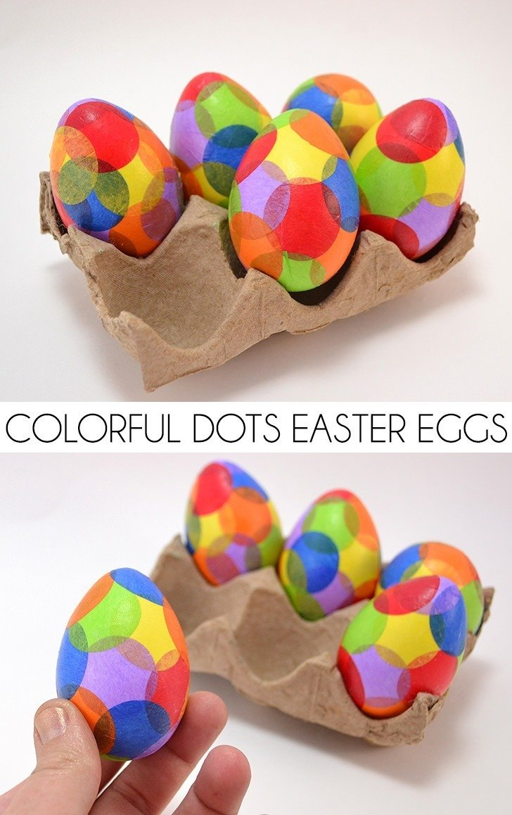 Colorful Dots Easter Eggs