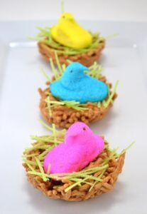 Peeps find a home in tasty bird's nest in this fun and super easy Easter treat!