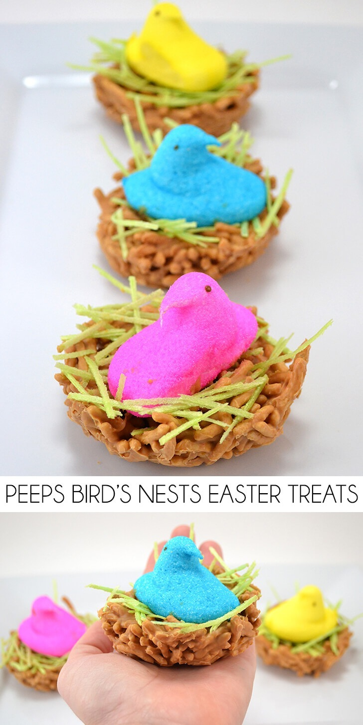 Peeps Bird's Nests Easter Treats