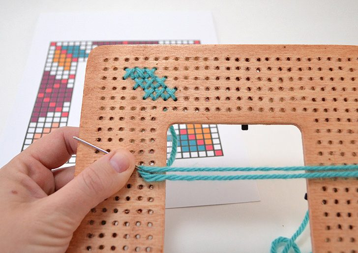 how to turn a picture into a cross stitch graph