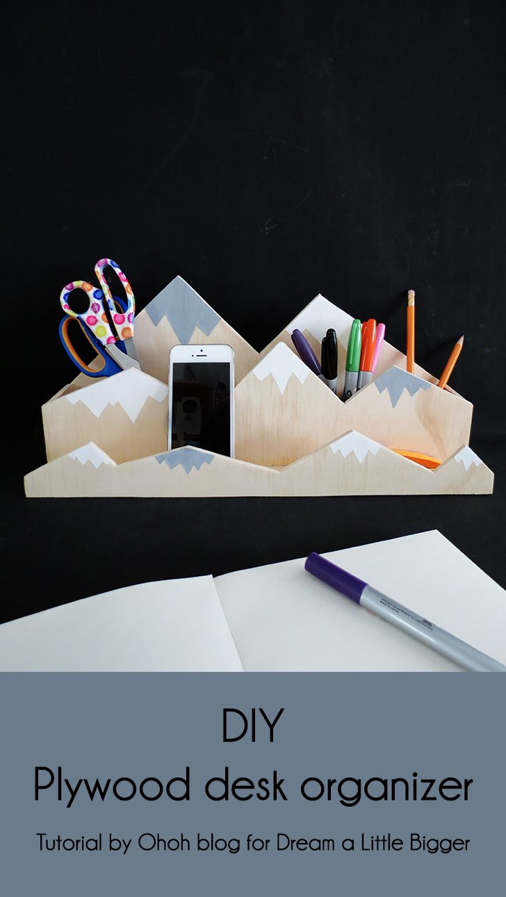 How to make a mountain desk organizer