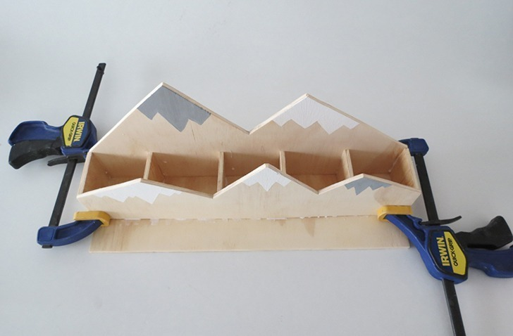 diy plywood desk organizer 7