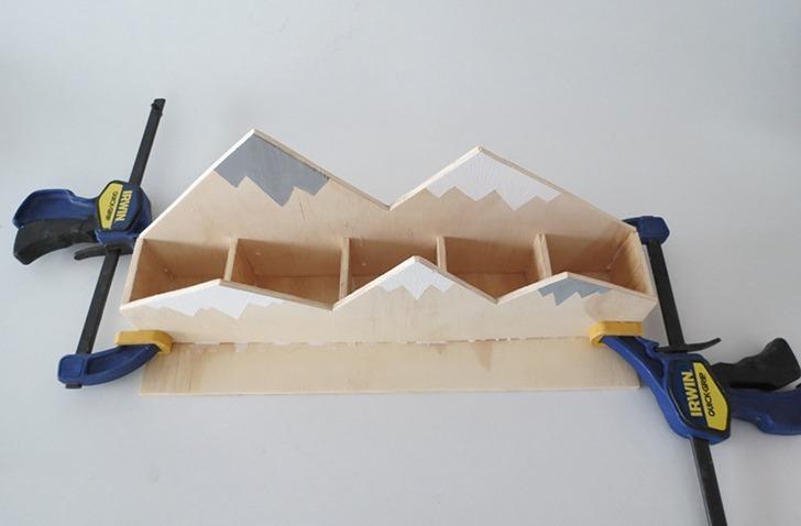 diy plywood desk organizer 7