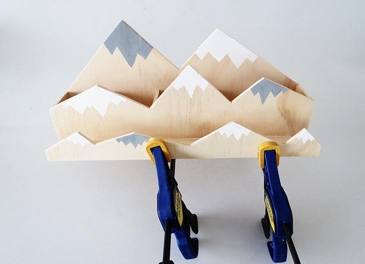 diy plywood desk organizer 8
