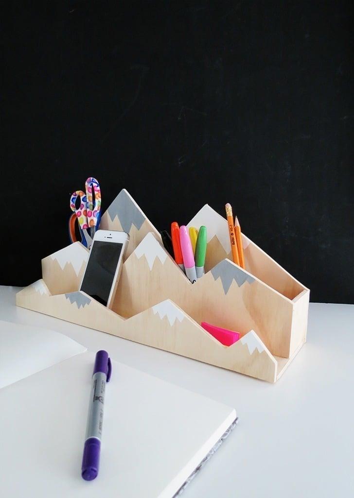 diy plywood desk organizer 9