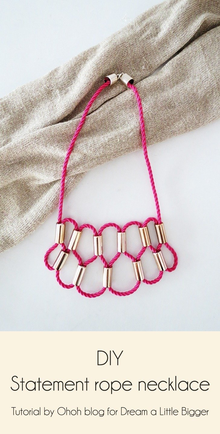 How to make a statement necklace with rope