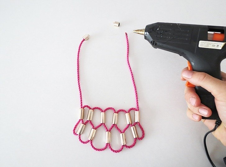 diy rope statement necklace 6
