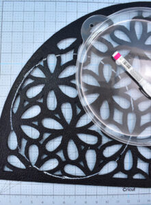 Before doing any cutting, lay your stepping stone molds on top of your mat.