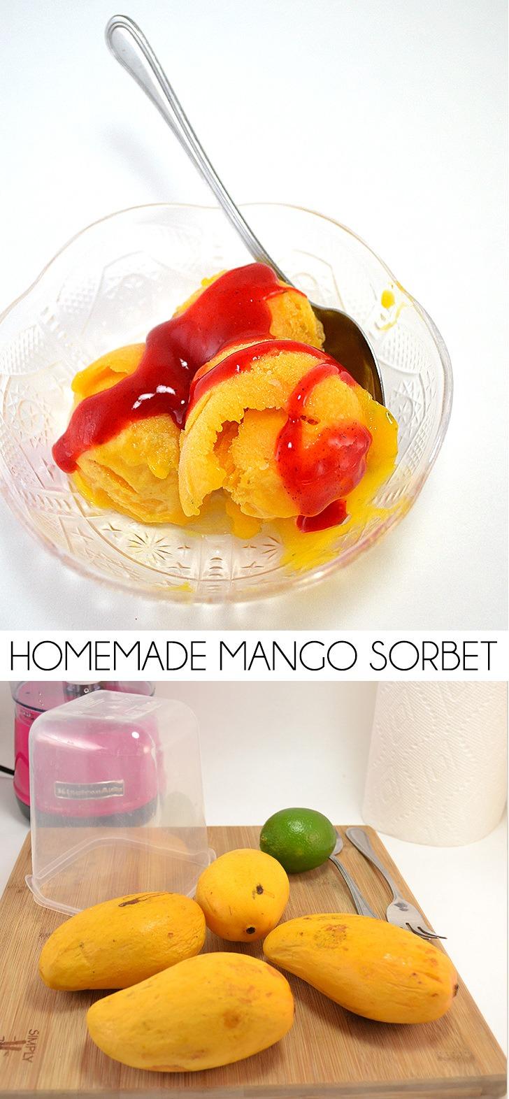 Creamy Homemade Mango Sorbet Recipe