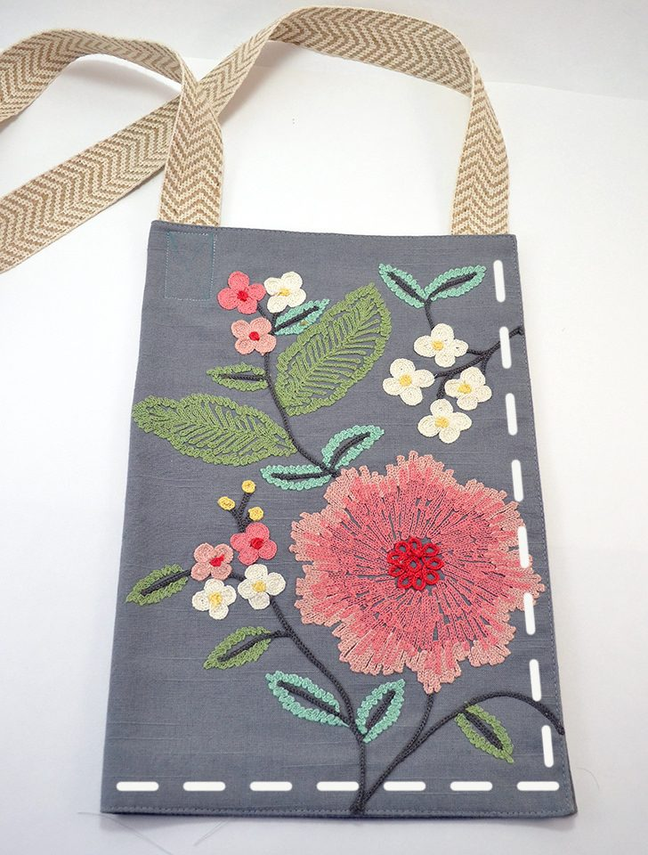 Have you SEEN how cute the placemats are at Target? Turn one into a purse. Genius!