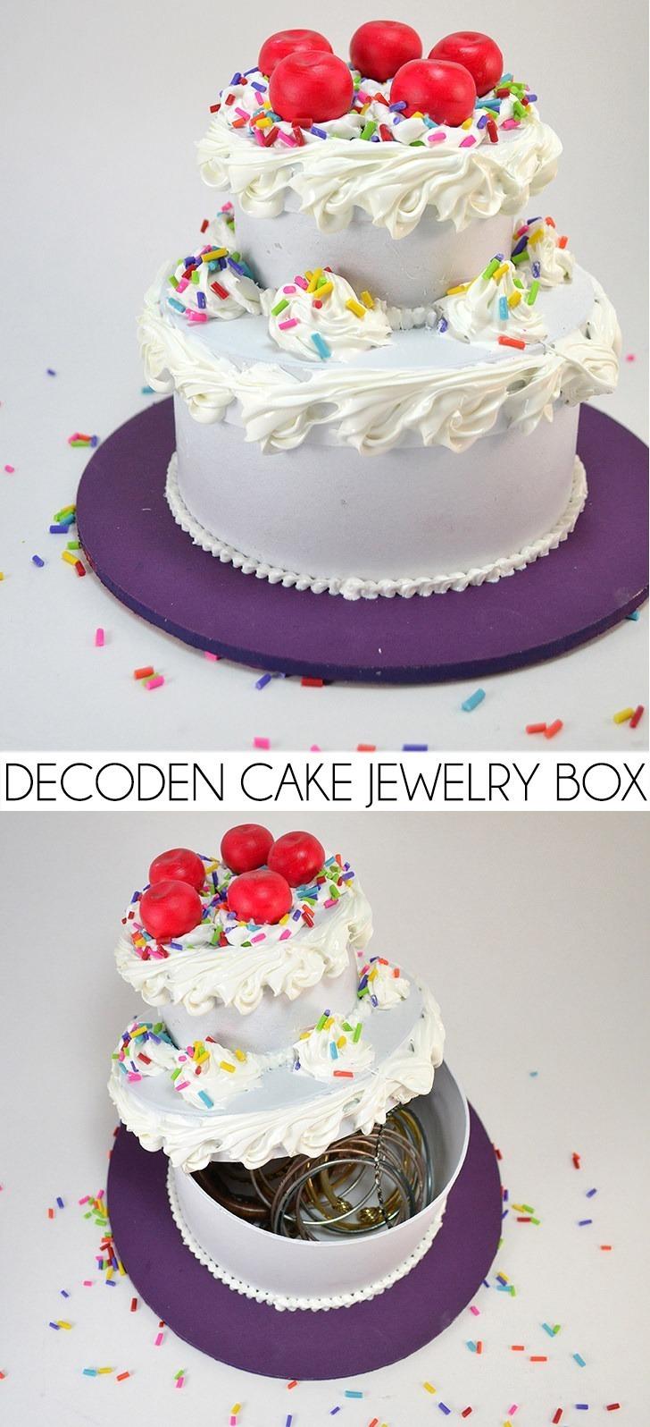 Decoden Fake Cake Jewelry Box